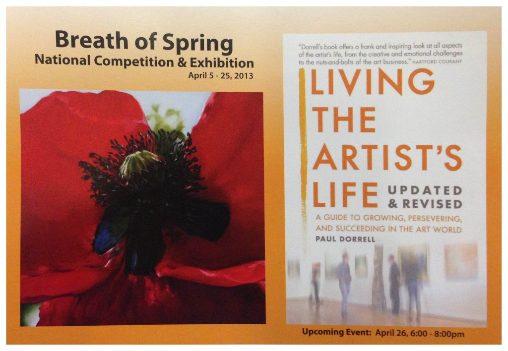 """Honored to see my painting selected for Pacific Art League's """"Breath of Spring"""" Exhibition in April, 2013"""